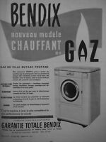 PUBLICITÉ DE PRESSE 1954 BENDIX MACHINE A LAVER GARANTIE TOTALE - ADVERTISING