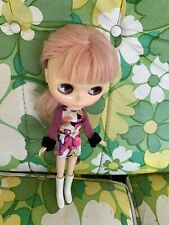 Blythe doll clothes Mod Outfit With Cool White Boots Pink And Black Form Fitting
