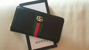Gucci Portafoglio Continental GG in pelle nera