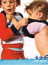 PUBLICITE ADVERTISING 015  1974  PETIT-BATEAU  pyjamas  sous vetements enfants