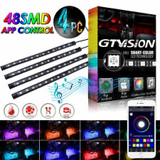 APP Controlled 5050 RGB LED Neon Light Strip Under Car Tube Underglow Footwell