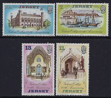 1977 JERSEY VICTORIA COLLEGE 125th ANNIVERSARY SET OF 4 FINE MINT MNH