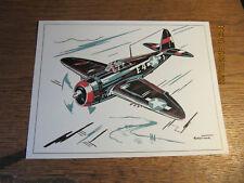 """Plaquette REPUBLIC P-47 """" THUNDERBOLT"""" - Fiche Technique de l'aviation"""