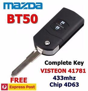 MAZDA BT50 Transponder Chip Flip Remote Key Keyless Entry VISTEON 41781