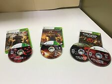 Gear of War collections for Xbox ( GOW 3 / Judgment / Triple Pack )