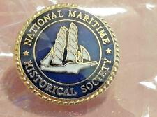 Vtg Lapel Pin National Maritime Historical Society ~ Ships FREE