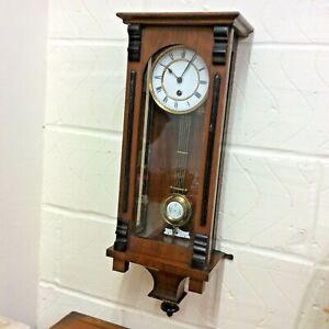 ANTIQUE VIENNA REGULATOR WALL CLOCK, c. 1900 in GOOD ORDER, by LENZKIRCH.