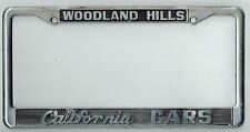 VERY RARE Woodland Hills California Cars Vintage Exotic Cars License Plate Frame