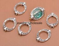 30pcs Tibetan Silver Charms OVAL Spacer Beads Frame DIY Jewelry 10x15mm A3159