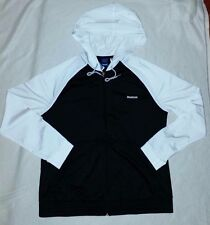 REEBOK WOMEN'S TRICOT SUIT TRAINING TRACKSUIT BLACK/WHITE XL (RRP £57) BNWT