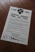 WW2 British Montgomery D-day Letter