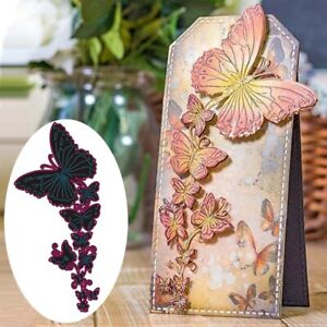 Butterfly Border Frame Metal Cutting Die Scrapbooking Embossing Dies Stencil DIY