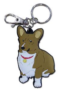 **Legit** Cowboy Bebop Authentic Anime PVC Keychain Data Dog Corgi Ein #85315