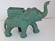 Antique Muncie Pottery Elephant Planter / Vase Hard to Find