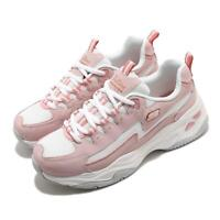 Skechers D Lites 4.0 Rose Pink White Women Casual Lifestyle Shoes 149491-ROS