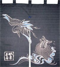 Noren Japanese Curtain Kaiuntei Tsurukame longevity Made in Japan With Tracking