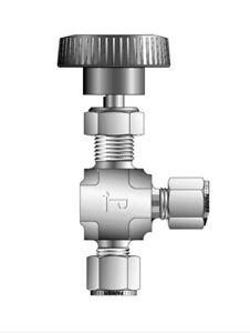 "1/4"" Tube 316ss Angle Needle Valve W/PTFE Seal (5000 Psi) PARKER 4A-V4AN-SS"