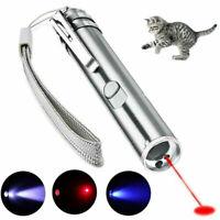 Pet Cat Kitten Toy Laser Pointer Battery LED Luminous Pen Flashlight Multi-Mode
