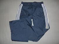 80er Jahre Adidas Nylon Glanz Hose Regenhose jogger shiny oldschool blau taiwan