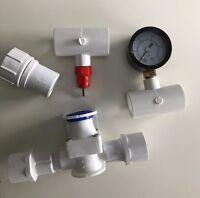 10 Nipple Chicken Water System + Tees, Pressure Regulator, Gauge + Hose Adapter