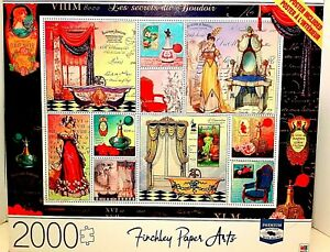 Milton Bradley Cardinal Jigsaw 2000 Piece Puzzle Finchley Paper Art W/Poster New