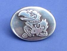 Lot of 10 Kansas Jayhawks conchos.  Dipped in silver, free shipping!