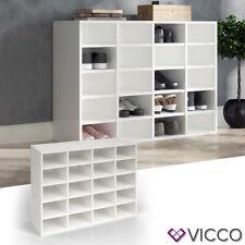 VICCO Schuhschrank LYSANDER Weiß Schuhständer Schuhablage Standregal Flur Diele