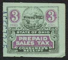 3c Ohio: Prepaid Sales Tax Consumer, Used [1] **ANY 4=FREE SHIPPING**
