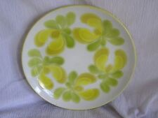 Vintage Retro Cool Crowne Lynn Ironstone Fiesta Yellow Green Dinner Plate Dish