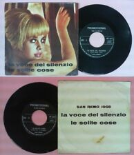 LP 45 7'' ROBBY La voce del silenzio Le solite cose PROMOTIONAL no cd mc vhs