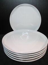 "Brian Gluckstein By Lenox Metro 6 Dinner Plates With Lip White 10 1/2"""