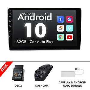 OBD+CarPlay+DVR+9 Inch Double 2 Din Car Stereo Radio Android GPS Touch Screen BT