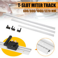600-1220mm Track Chute T-slot Track Stop Aluminium Woodworking Miter Router Tool