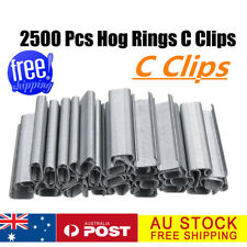 AU 2500Pcs Hog Rings C Type Staples Clips Rings Wire Fencing For Pet Cage Plier