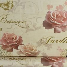 Red Pink Rose White Flower Floral Thick Textured Vinyl Wallpaper Metallic J34610