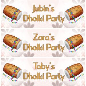 2 Personalised Dholki Ceremony Party Celebration Decoration Banners Posters