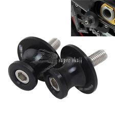 Black Motorcycle 6mm Swingarm Swing Arm Spool Slider Stand Bobbin for YAMAHA 2pc