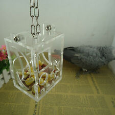 Parrot Bird Cage Feeder Hang Foraging Toy For Pet Treat Hunt Macaw Cockatoo Fast
