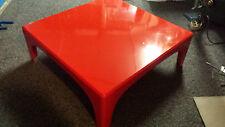 Designer Arcadia Ecktisch, rot, Fiberglas