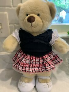 """Build A Bear 18"""" Plush Bear School Outfit Lot w/ Outfit, Shoes, Undees!!"""