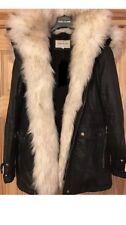 River Island Parka Fur Coat Black Size 12 Sold Out ⭐️PRICE DROP⭐️