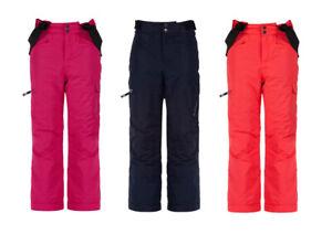 Dare2b Girls Kids Freestand Waterproof Breathable Ski Trousers Salopettes Pink
