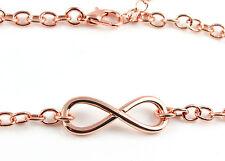 Armkette Unendlich rose vergoldet 20 cm infinity armschmuck Valentinstag