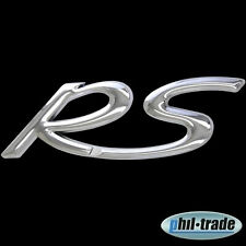3D Chrom Emblem Aufkleber Logo RS Tuning Motor Renn Sport