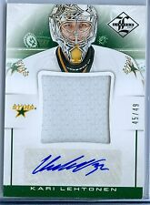 KARI LEHTONEN 2012-13 LIMITED JUMBO MATERIALS GAME USED JERSEY AUTOGRAPH SP/49