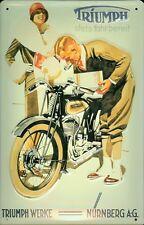 Triumph Motorrad Blechschild Schild 3D geprägt gewölbt Tin Sign 20 x 30 cm