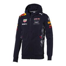 Red Bull Racing F1 Official Men's Teamline Team Hooded Sweat Jacket - 2017
