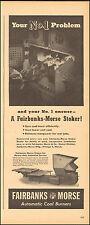 1943 Vintage ad for Fairbanks Morse Automatic Coal Burners WWII era  (020717)