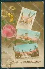 Vicenza Montecchio Maggiore Saluti da RIFILATA Foto cartolina QK7964