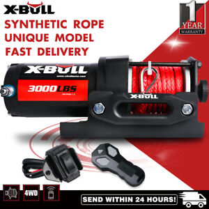 X-BULL Electric Winch 12V Wireless 3000lbs/1360kg Synthetic Rope BOAT ATV 4WD